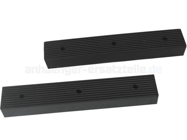 Seitenauflage Schürfleiste 4er SET Gummiauflage für Bootstrailer