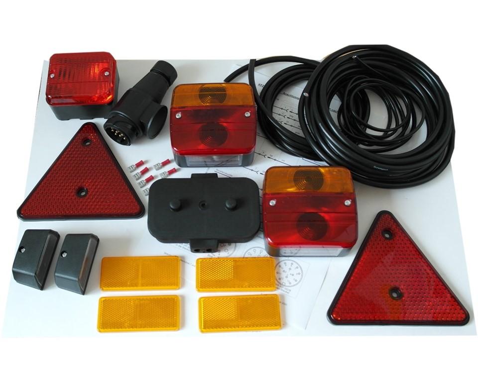 Beleuchtungsset - Leuchten, Kabel, Stecker 13-pol.