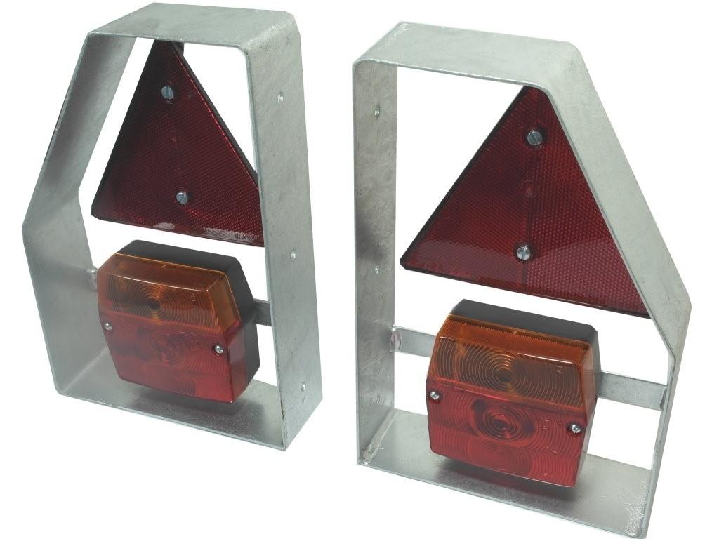 Lampenträger Metall & Rücklicht, Reflektor