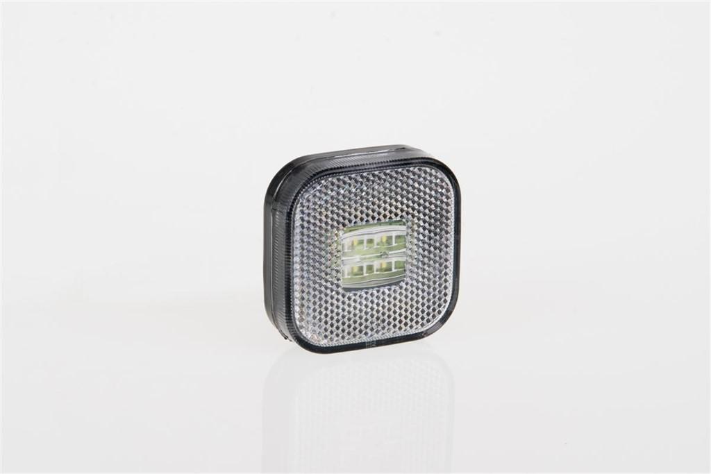LED Positionsleuchte 62*62mm , weiß mit Reflektor