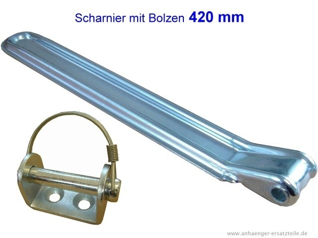 Stellbordscharnier mit Anschraubbolzen - 420 mm