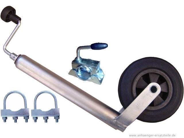 48mm Stützrad mit Klemmhalter und Schellen