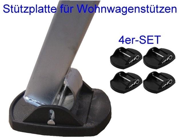 Stützplatten mit Metallstift 4er-Set