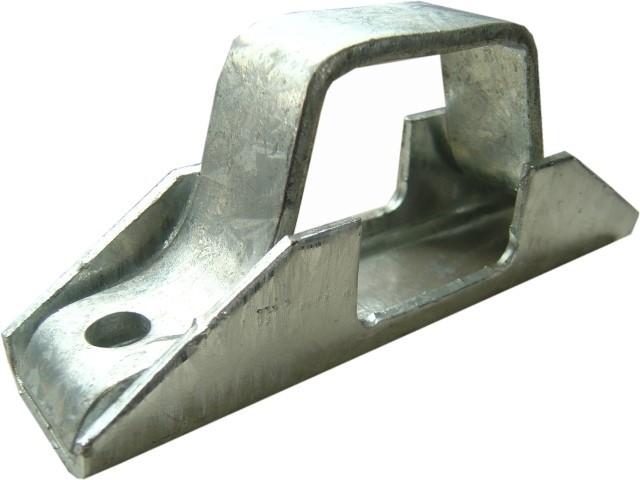 Auflagebock für 60 mm Vierkant-Zugrohre