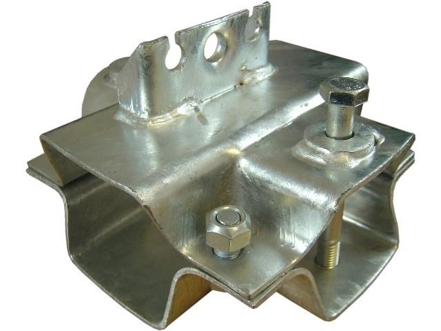 Klemmschale (Achse 80mm - Zugrohr Vierkant 70 mm)