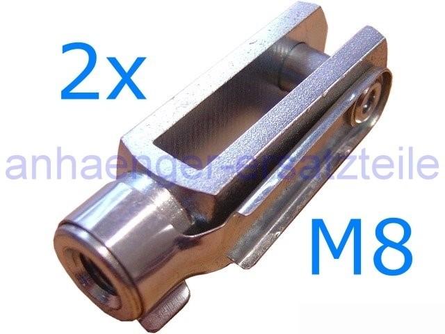 2er Set  Gabelkopf M8*32 mm