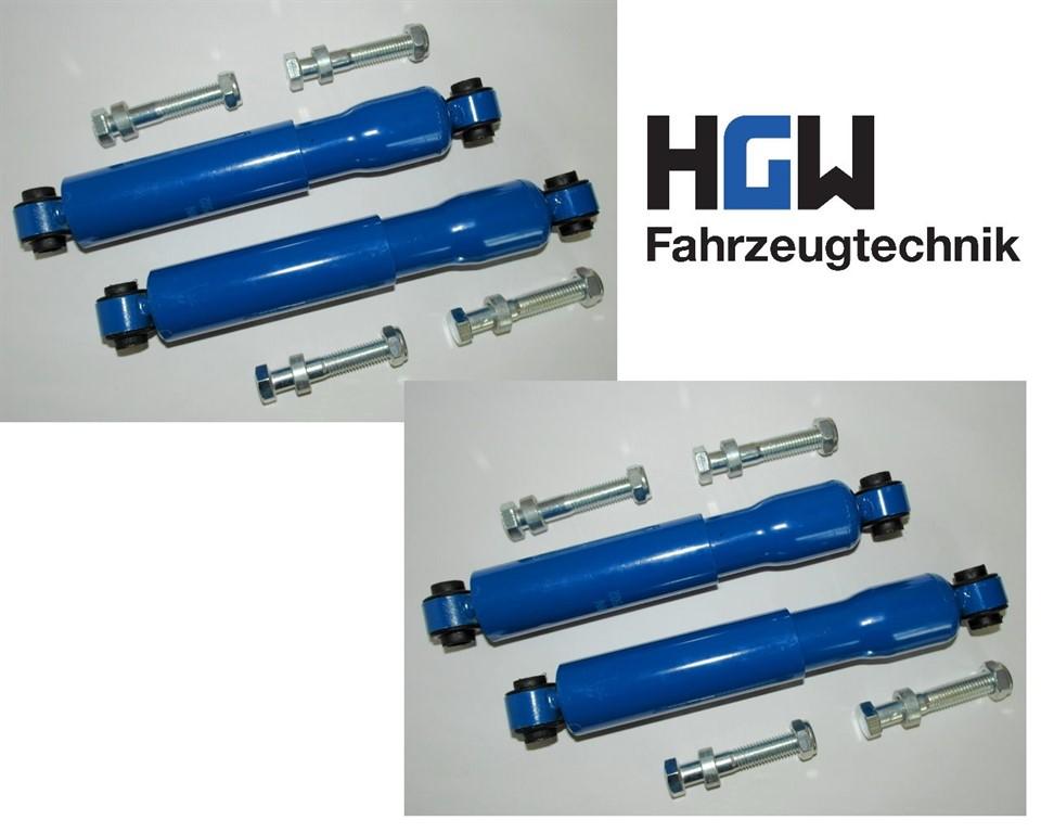 2* Paar Radstoßdämpfer Universal 600 - 1400 kg.