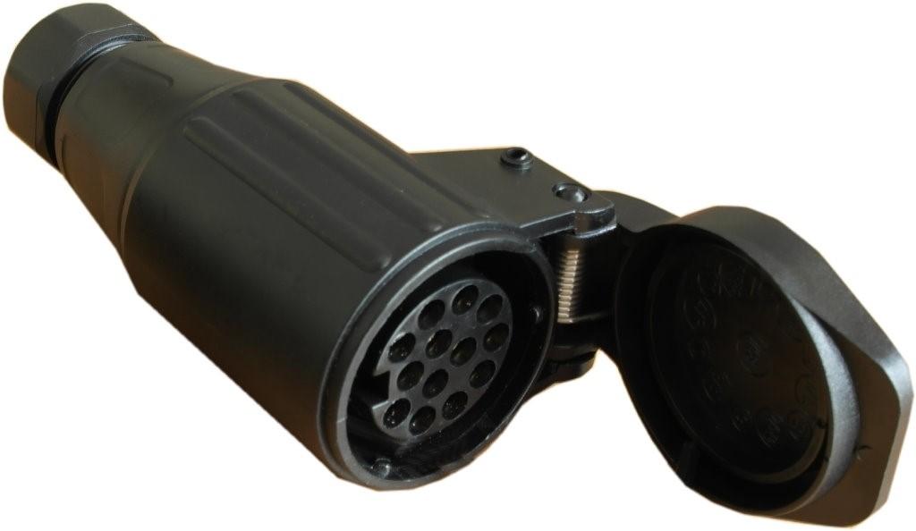 Steckdose für Kabelverlängerung, 13-polig